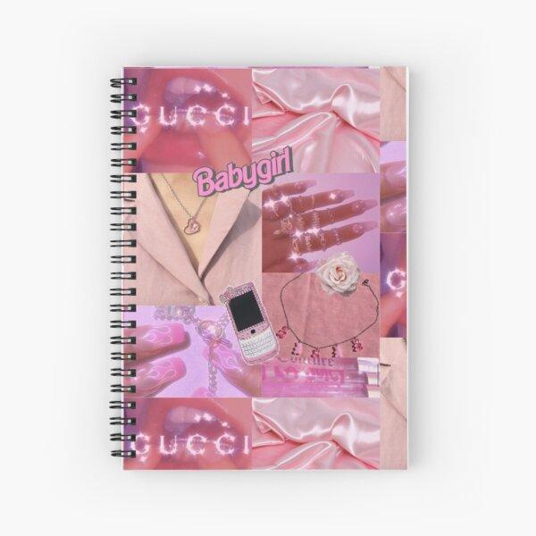 Pink Baddie Collage Spiral Notebook