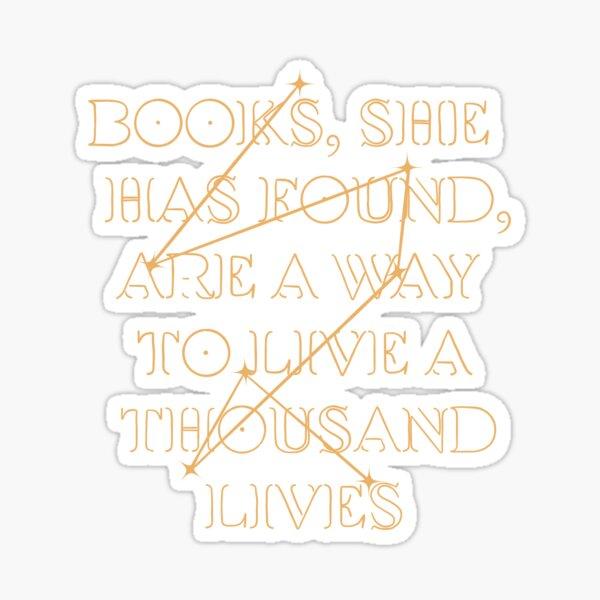 Addie LaRue Zitat Sticker