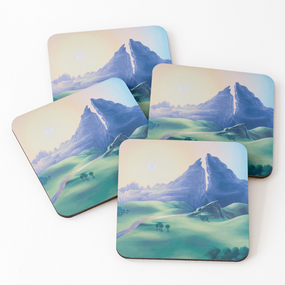 Dueling Peaks Coasters (Set of 4)