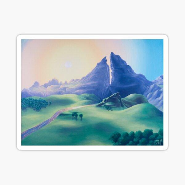 Dueling Peaks Sticker