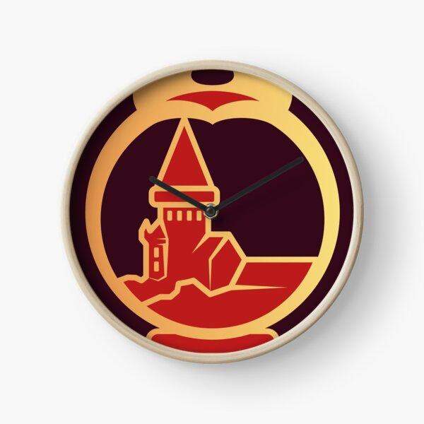 Clé serpent de chateau enchanté - doré rouge Horloge