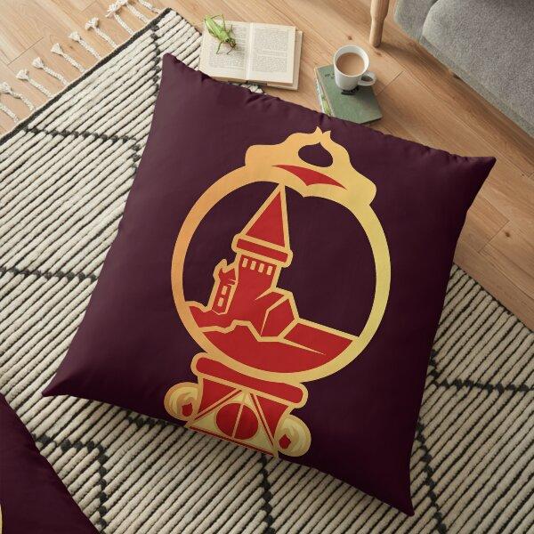 Clé serpent de chateau enchanté - doré rouge Coussin de sol