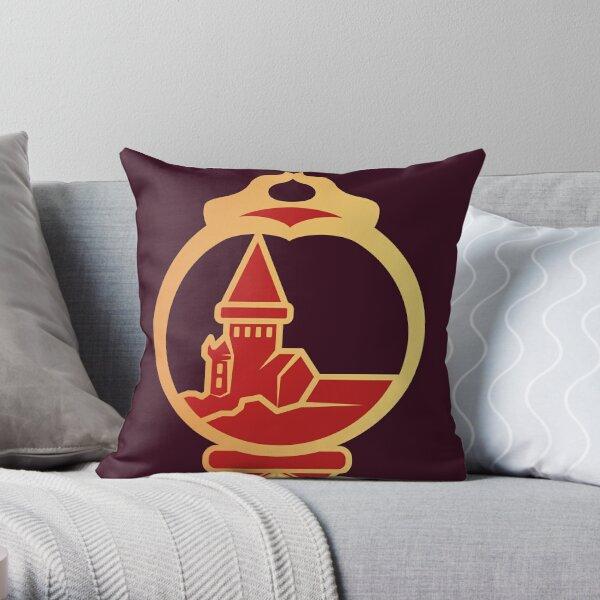 Clé serpent de chateau enchanté - doré rouge Coussin
