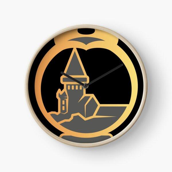 Clé serpent de chateau enchanté - doré noir Horloge