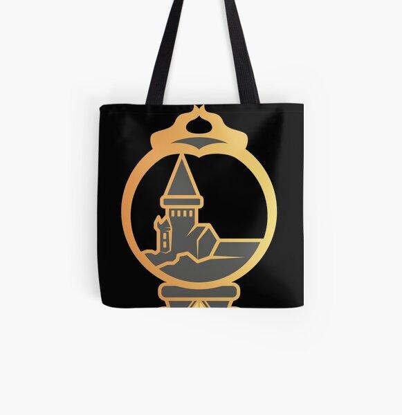 Clé serpent de chateau enchanté - doré noir Tote bag doublé