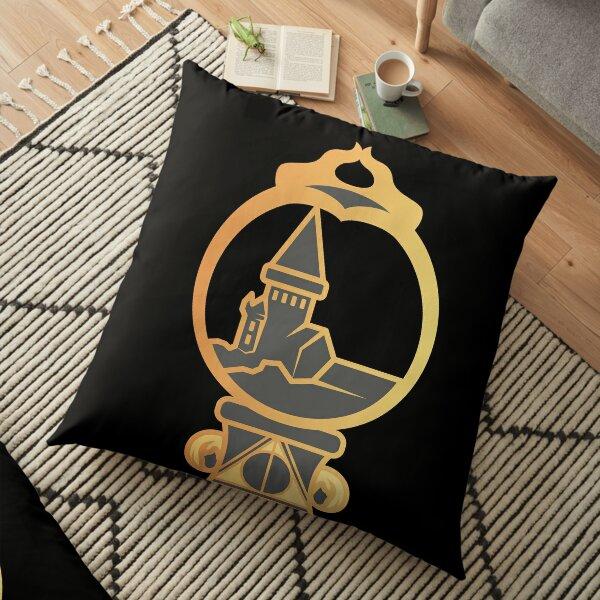 Clé serpent de chateau enchanté - doré noir Coussin de sol