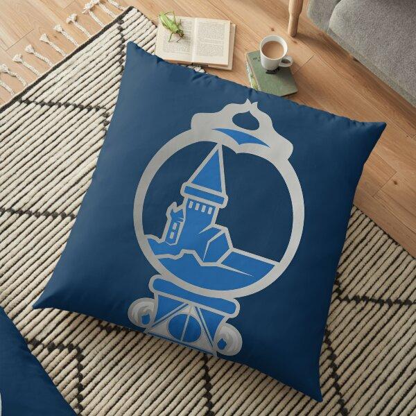 Clé serpent de chateau enchanté - argenté bleu Coussin de sol