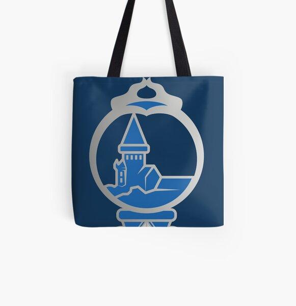 Clé serpent de chateau enchanté - argenté bleu Tote bag doublé