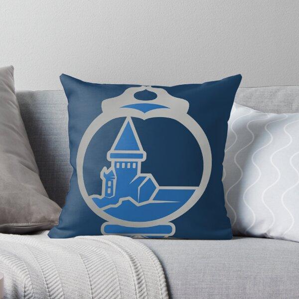 Clé serpent de chateau enchanté - argenté bleu Coussin