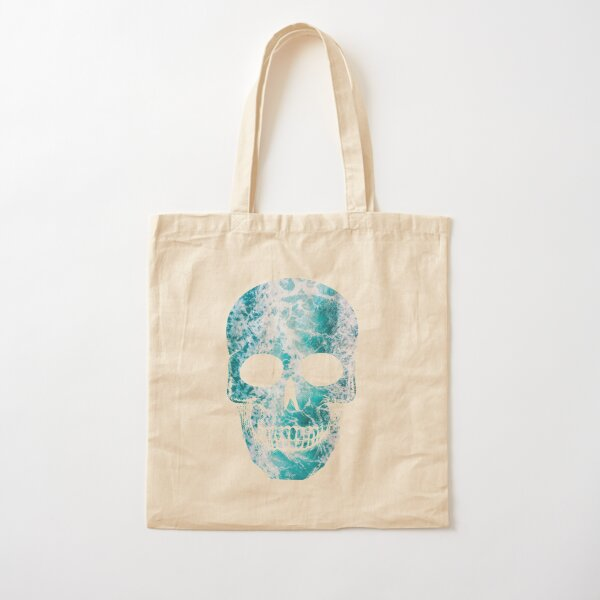 Salty skull design Cotton Tote Bag