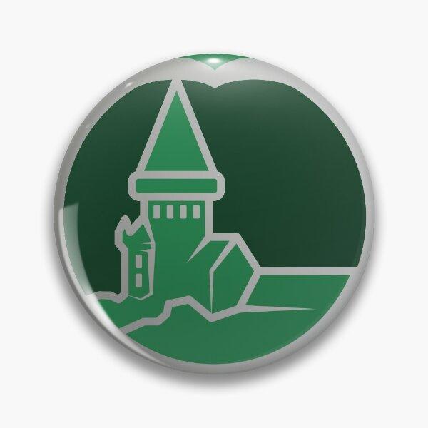 Clé serpent de chateau enchanté - argenté vert Badge