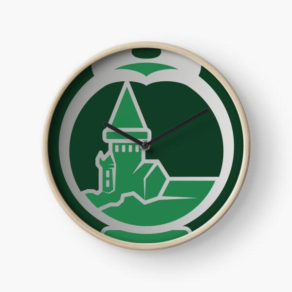 Clé serpent de chateau enchanté - argenté vert Horloge