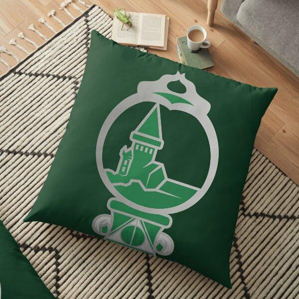 Clé serpent de chateau enchanté - argenté vert Coussin de sol