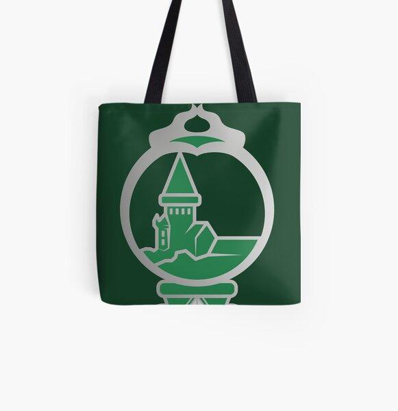 Clé serpent de chateau enchanté - argenté vert Tote bag doublé