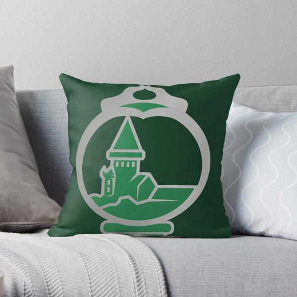 Clé serpent de chateau enchanté - argenté vert Coussin
