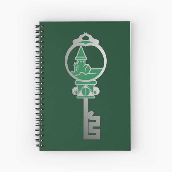 Clé serpent de chateau enchanté - argenté vert Cahier à spirale