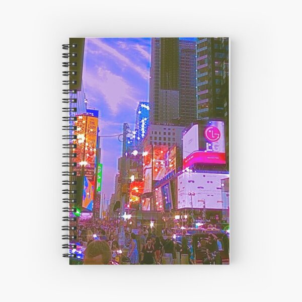 new york city- indie aesthetic photo Spiral Notebook