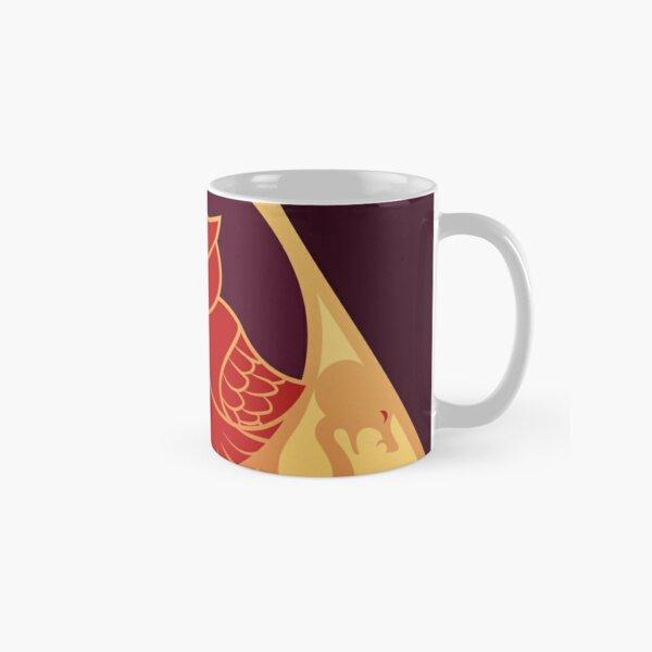 Relique hibou et serpent - rouge doré Mug classique