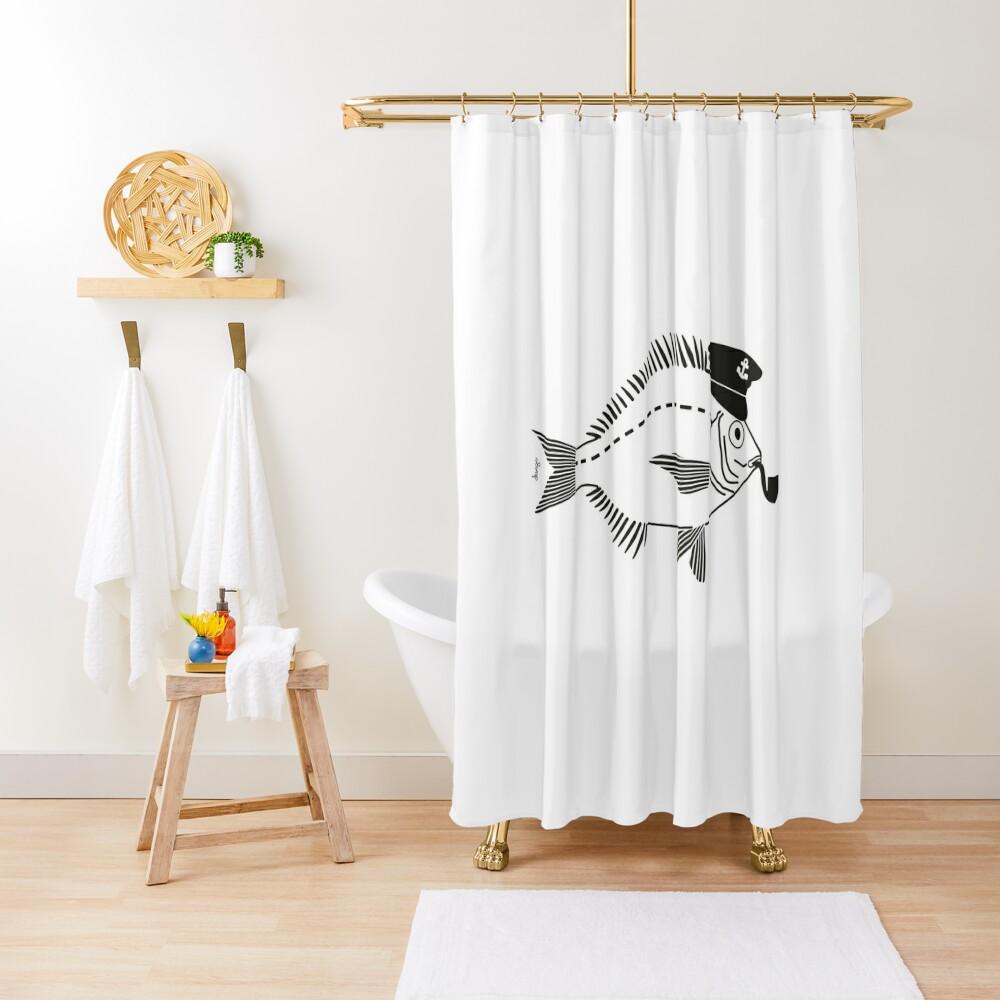 Sargo captain disego Shower Curtain