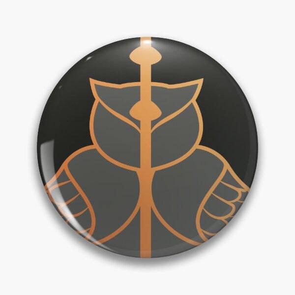 Relique hibou et serpent - noir doré Badge