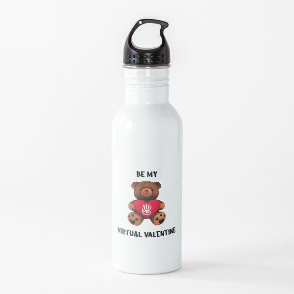 Virtual Valentine Bear Water Bottle
