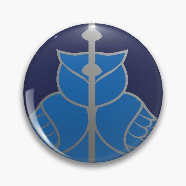 Relique hibou et serpent - argenté bleu Badge