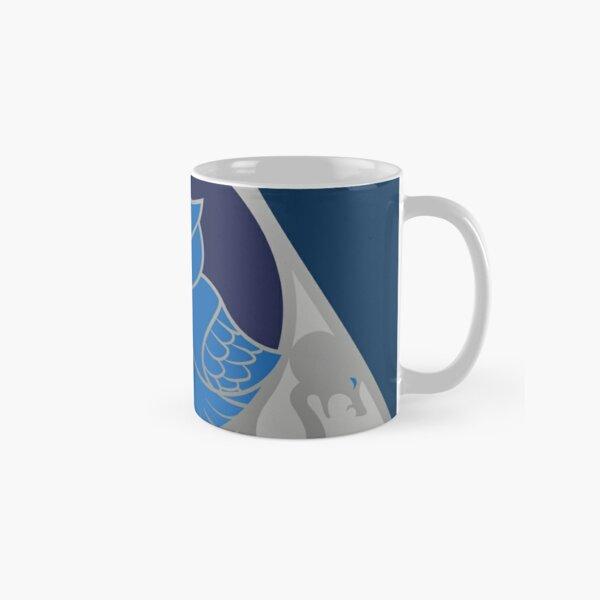 Relique hibou et serpent - argenté bleu Mug classique