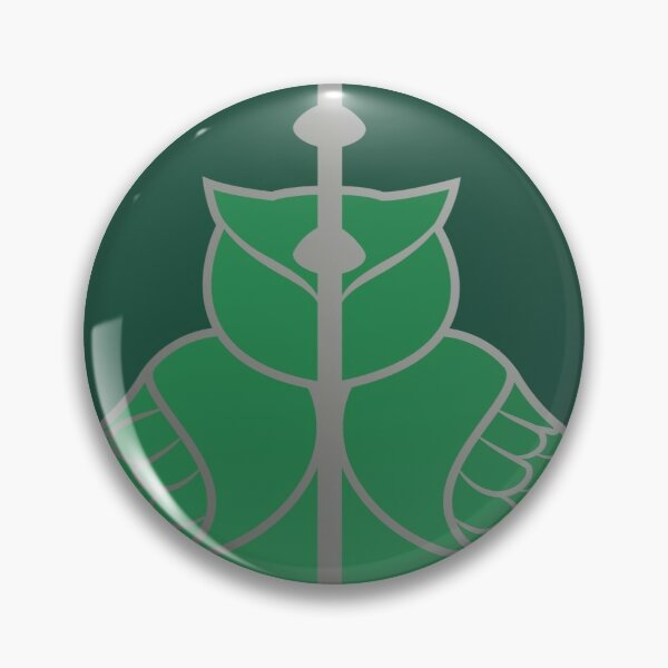 Relique hibou et serpent - argenté vert Badge