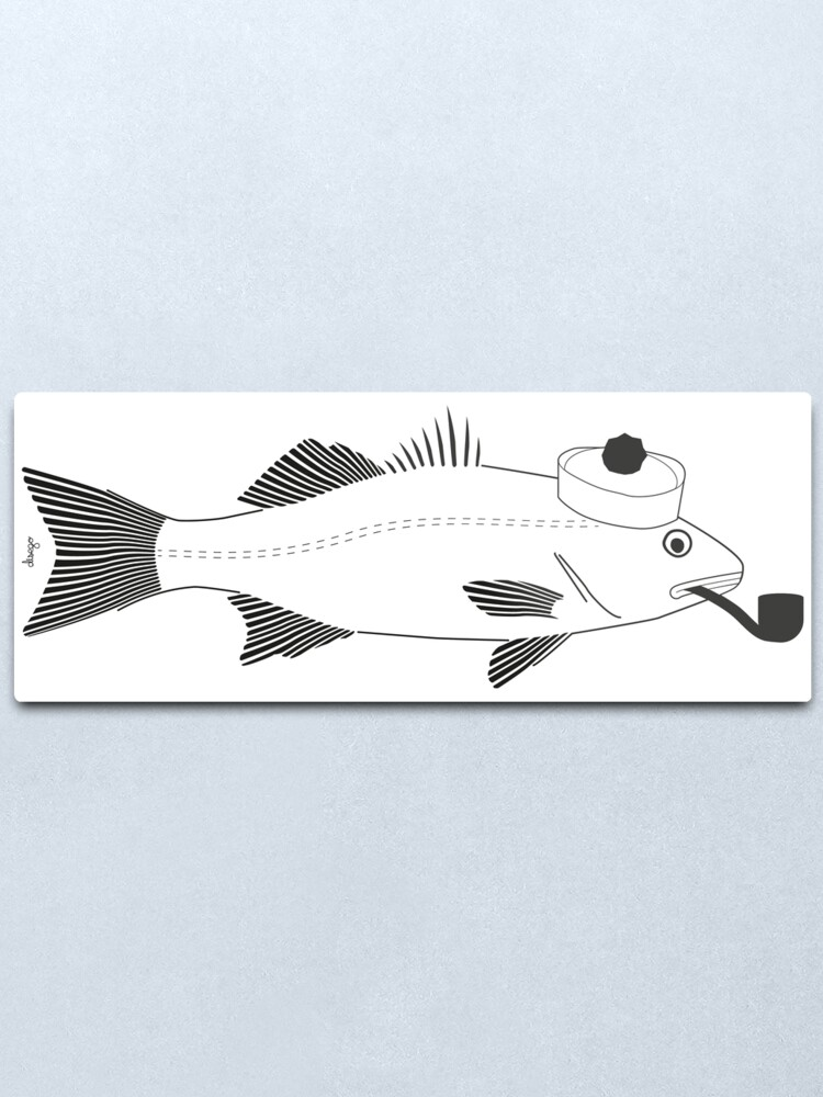 Alternate view of Sea bass disego Metal Print