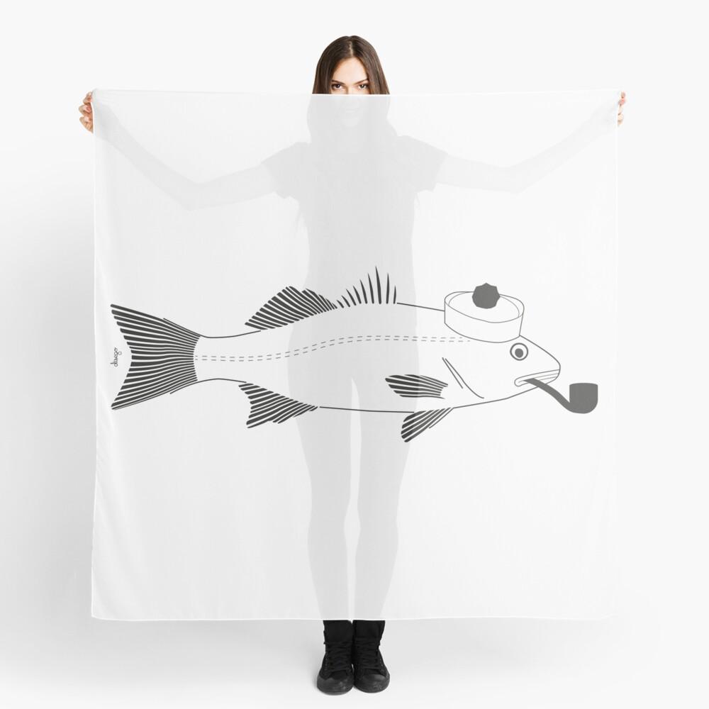 Sea bass disego Scarf