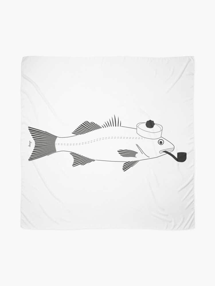 Alternate view of Sea bass disego Scarf