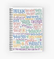 Positive/Inspirational Quotes Collage Spiral Notebook