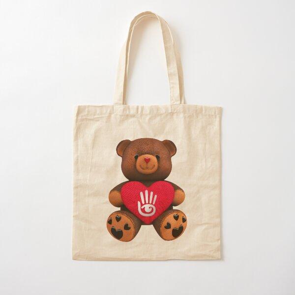 Valentine Teddy Bear Cotton Tote Bag