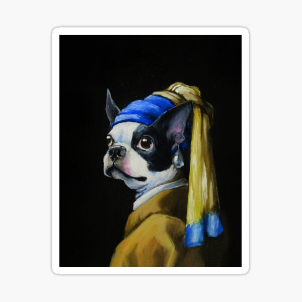 With a Pearl Earring Sticker
