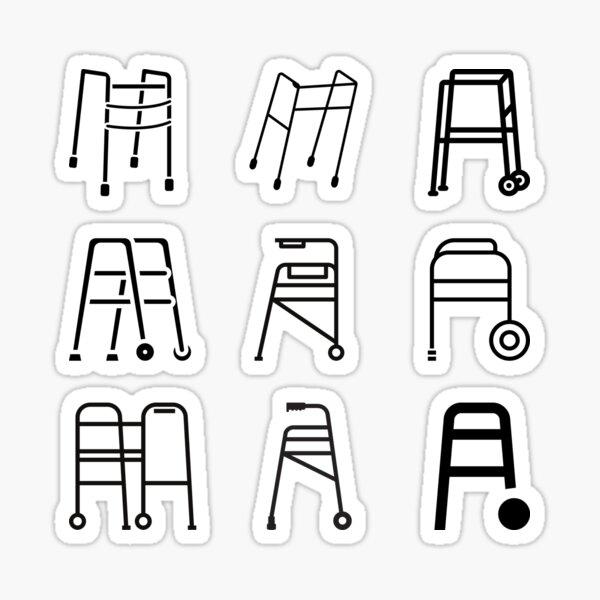 Walker symbol sticker pack Sticker