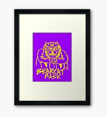 BOOTLEG WRASSLER BEARCAT MASK - YELLOW Framed Print