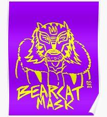 BOOTLEG WRASSLER BEARCAT MASK - YELLOW Poster