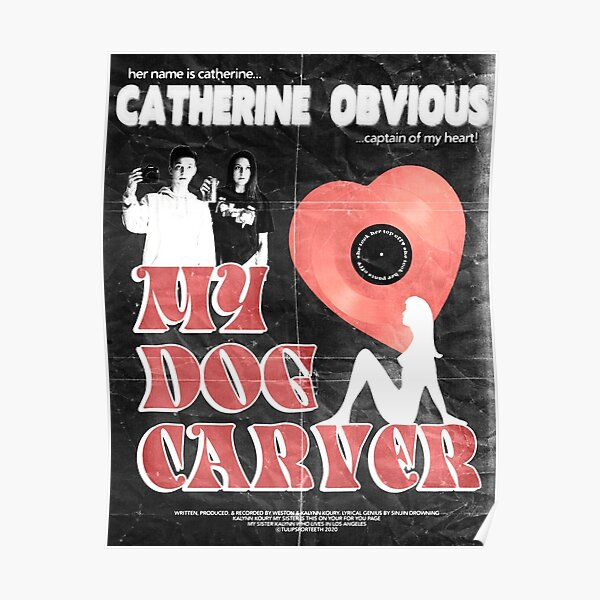 Sinjin Drowning Catherine Obvious Vintage Inspired Poster