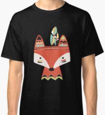 Cartoon Stammes-Rotfuchs Classic T-Shirt