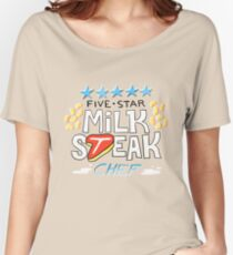 Five-Star Milk Steak Chef Women's Relaxed Fit T-Shirt