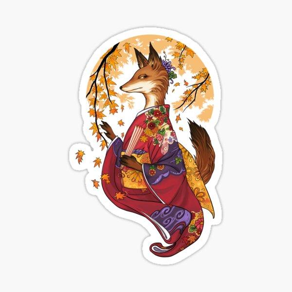 Maple Kitsune Sticker