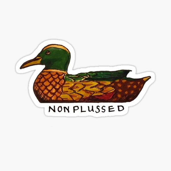 James Acaster Nonplussed Duck Decoy Design Sticker