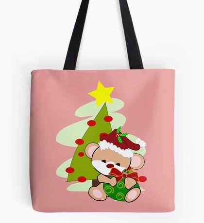 Christmas Teddy  (2305   Views) Tote Bag