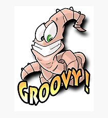 Groovy Worm  Photographic Print