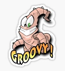 Groovy Worm  Sticker