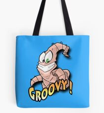 Groovy Worm  Tote Bag