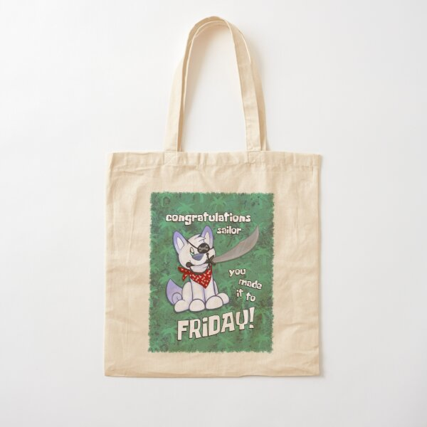 Scribble Kibble Pirate - Friday Cotton Tote Bag