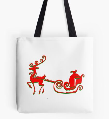 Reindeer Tee (2808  Views) Tote Bag