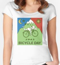 Bicycle Day T-shirt - 1943 Vintage (Albert Hofmann LSD) Women's Fitted Scoop T-Shirt