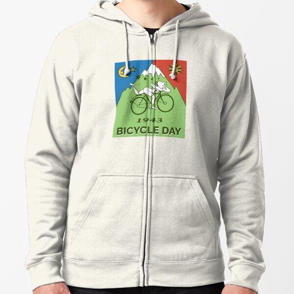 Bicycle Day T-shirt - 1943 Vintage (Albert Hofmann LSD) Zipped Hoodie